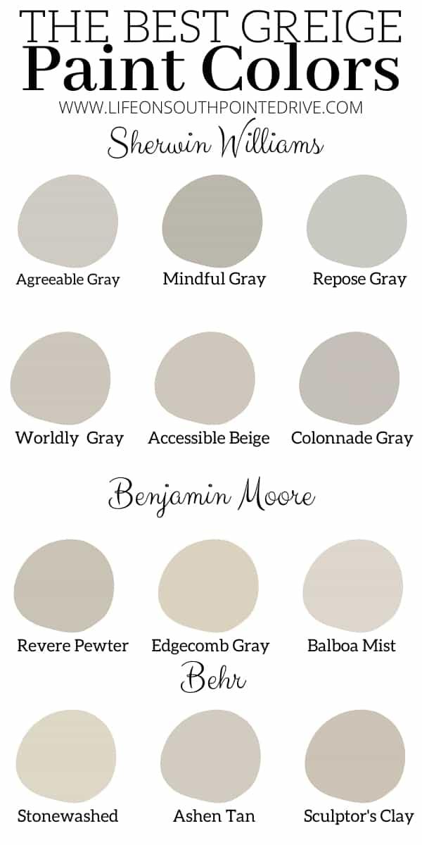 Best Greige Paint Colors