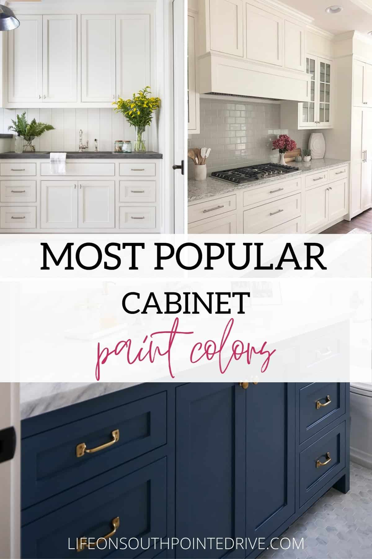 The Most Popular Cabinet Paint Colors   Life on Southpointe Drive
