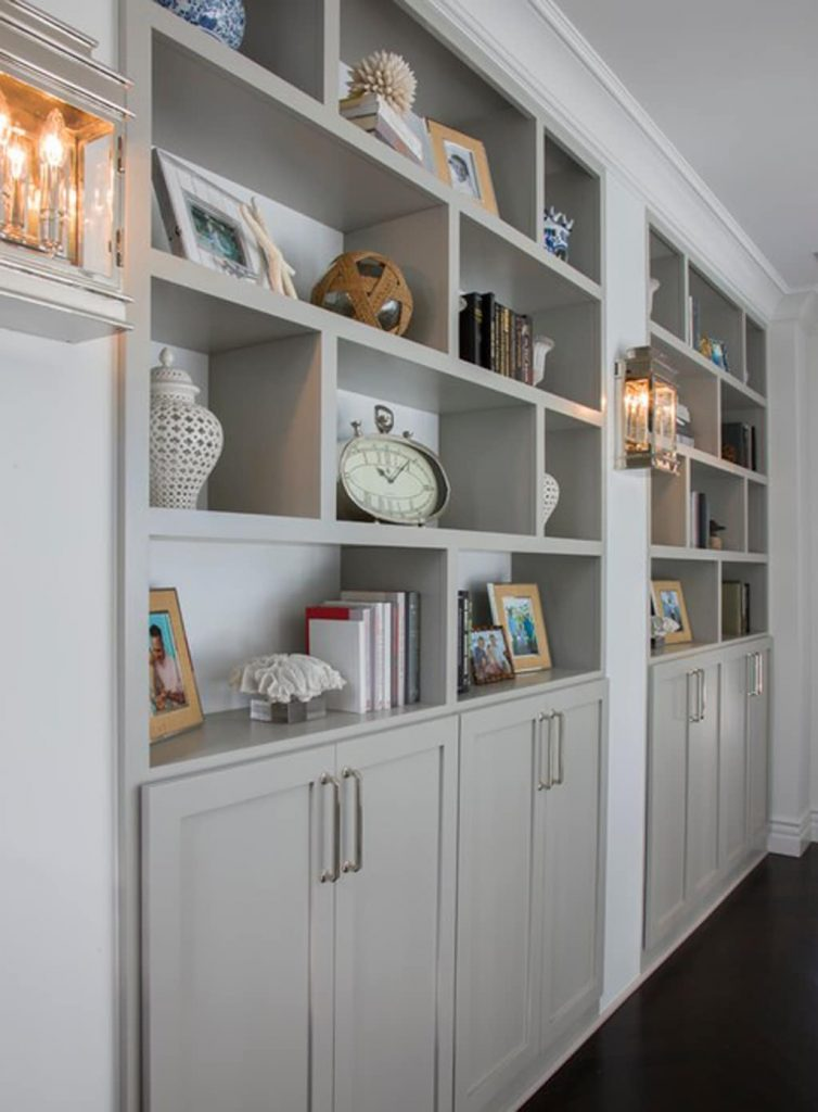 Built-ins Painted Mindful Gray