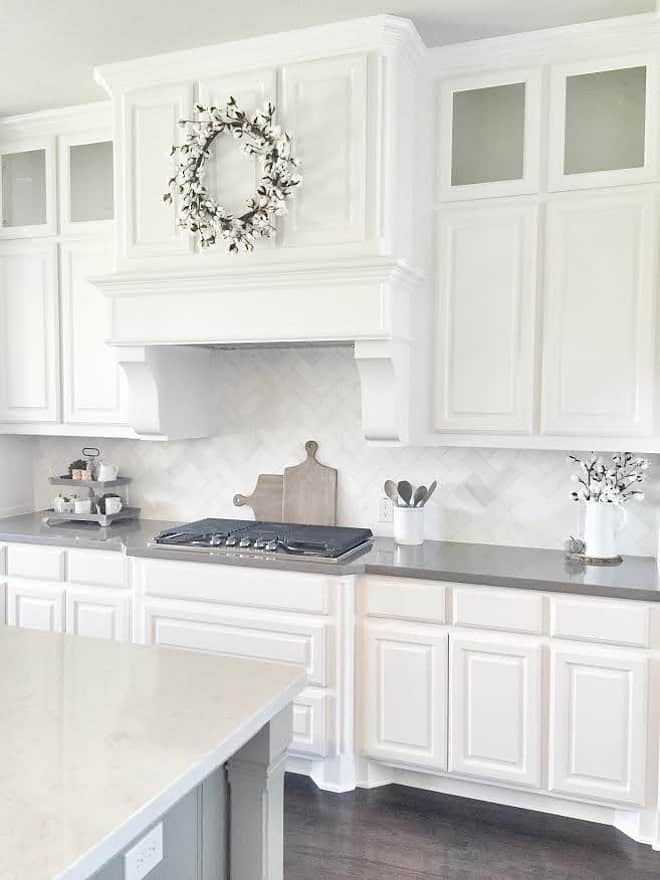 Kitchen Cabinets Painted Pure White