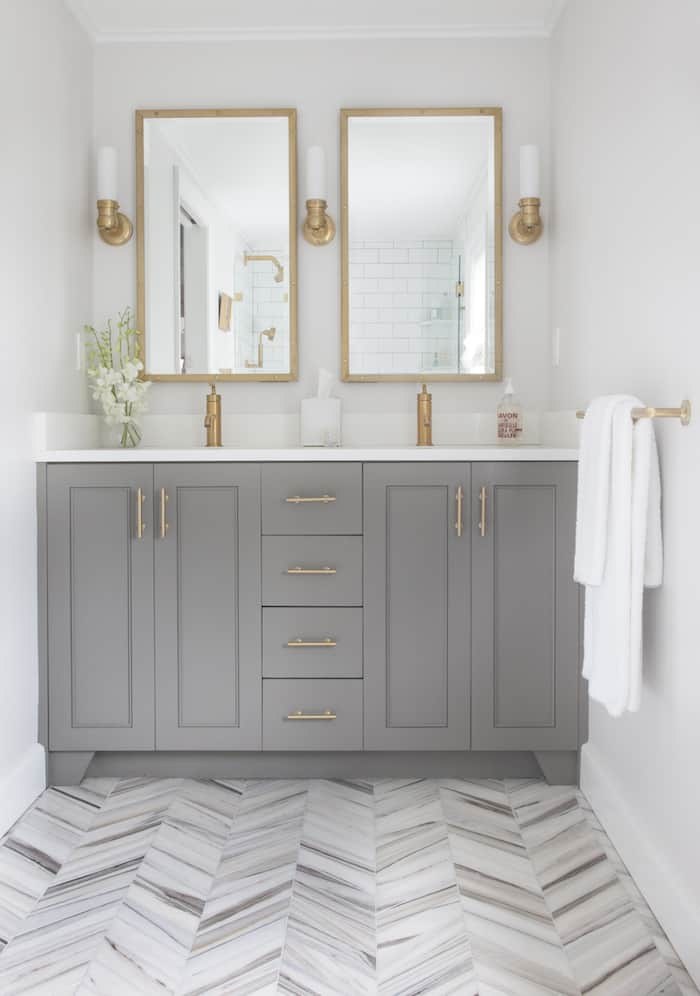 Bathroom Vanity Painted Chelsea Gray